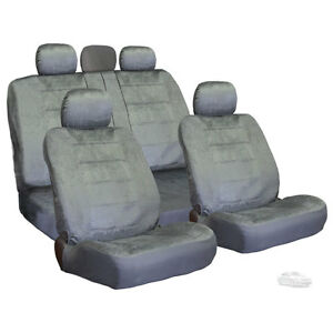 New For Toyota Semi Custom Grey Velour Car Truck Seat Covers Set