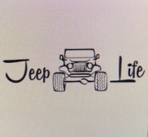 Jeep Life 4x4 Car Window Decal Truck Sticker