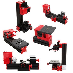 6 In 1 Mini Motorized Wood Lathe Machine Woodworking Hobby Diy Tool