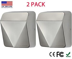 2 Pack Jetwell High Speed Commercial Stable Stainless Steel Automatic Hand Dryer