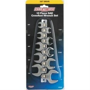 Channellock Standard 3 8 Drive Crowfoot Wrench Set 10 piece