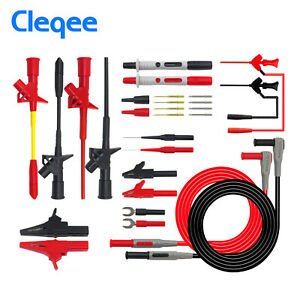Cleqee P1300f Replaceable Multimeter Probe Test Hook test Lead Kit
