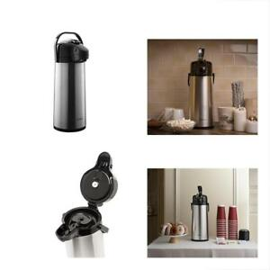 Thermal Carafes 2 2 Liter Airpot Coffee Dispenser With Pump Stainless Steel New