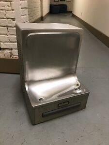 Elkay Commercial Drinking Water Fountain W Cooler Stainless Wall Mount