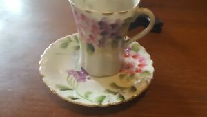 Vintage Japanese Hand Painted Chocolate Cup Set