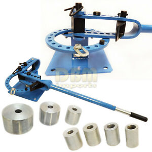 Bench Top Tube Pipe Rod Compact Bender Bending Metal Fabrication 7 Dies 1 3