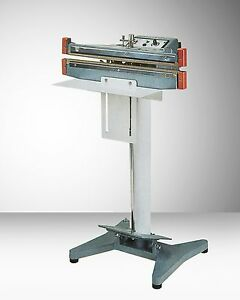 18 Double Impulse Foot Operated Bag Sealer W 10mm Seal Aie 410 Fd