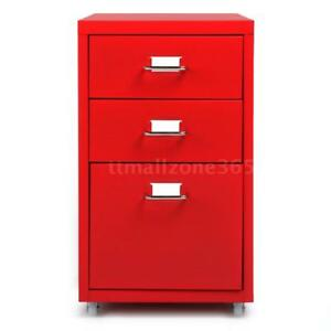 Metal Drawer Filing Cabinet Detachable Mobile File Cupboard W Drawers New B8o2