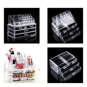 Jewelry Trays Makeup Organizer Drawers Acrylic Cosmetic Storage Display Box Case
