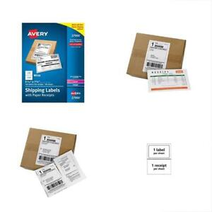 Shipping Labels White With Paper Receipts 5 1 16 x7 5 8 100 Pack 27900 Gift