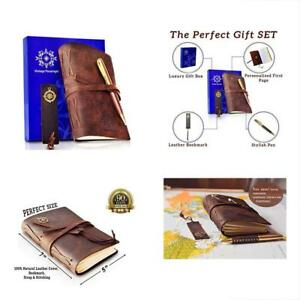 Composition Notebooks Leather Journal In Gift Set Handmade With Leather Elegant