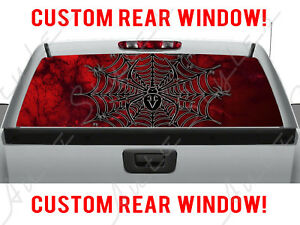 Black Widow Spider Dodge Gothic Chevy Pickup Truck Rear Perforated Window Decal