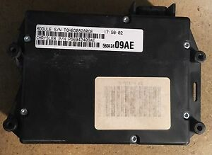56042409ae Jeep Grand Cherokee Body Control Module Bcm With Security Alarm 1998