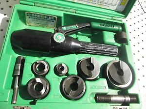 Greenlee 7806sb 1 2 2 Hydraulic Knockout Quick Draw Punch Slugbuster Set