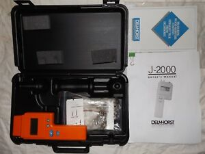 Delmhorst J 2000 Digital Pin type 6 40 Wood Species Moisture Meter Case Pins