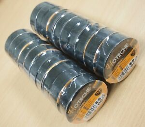 Lot Of 20 Rolls 33 Ft 3 4 Pvc Black Insulated Electrical Tape High Quality