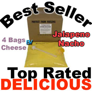 Gold Medal El Nacho Grande Jalapeno Nacho Cheese 4 Bags Use W Warmer Dispenser