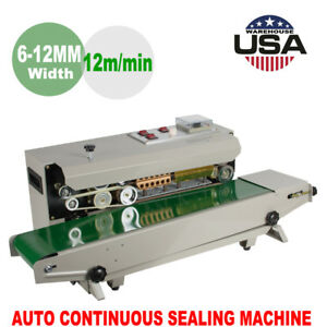 Automatic Horizontal Continuous Plastic Bag Band Sealing Sealer Printing Machine