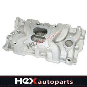 Intake Manifold Sbc Small Block For Chevy 350 383 305 327 Aluminum Dual Plane