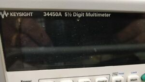Keysight Hp Agilent 34450a Digital Multimeter 5 Digit Multimeter