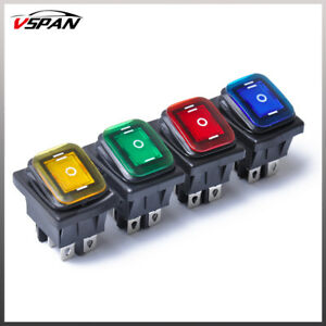 4pcs Car Boat On Off On 6 Pin 12v Led Light Rocker Switch Waterproof Universal