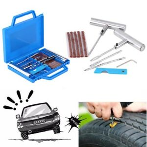 11pcs Tire Repair Kit Diy Flat Tire Repair Car Truck Motorcycle Plug Patch Box