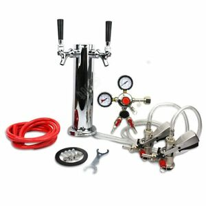 Bacoeng Double Faucet Tower Keg System No Tank Conversion Kit