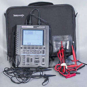 Tektronix Ths720a Handheld Battery Operated Dmm 100 Mhz 500 Ms s Oscilloscope