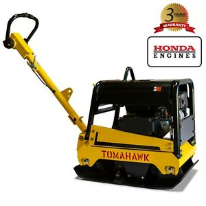 6 5 Hp Reversible Plate Compactor Tamper Gas Walk Behind Honda Gx200 Engine