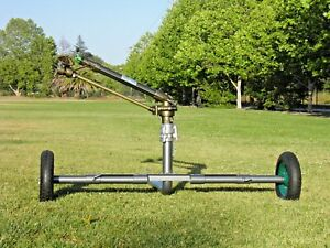New Yuzauk Jet 50t 2 Gear Drive Rain Gun Sprinkler With New 2 Gun Cart 300ft
