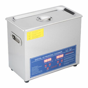 1 6 Gal 6l Ultrasonic Cleaner Jewelry Polishing Machine W Timer Heater