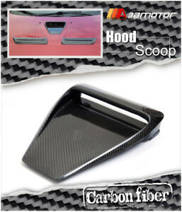 Carbon Fiber Varis Bonnet Scoop Hood Air Vent For Mitsubishi Evolution Evo 10