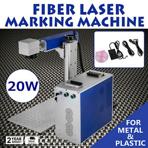 20w Fiber Laser Marking Engraving Machine For Metal Non metal 110v