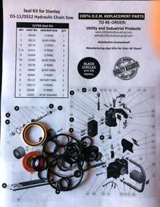 Seal Kit Stanley Model Ds11 Ds12 Hydraulic Chain Saw Seal Kit No 22798