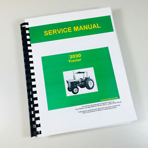 Service Manual For John Deere 2030 Tractor Repair Shop Book color Pages