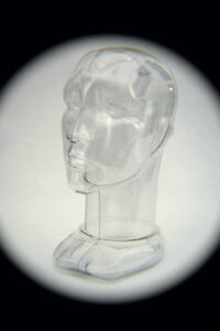 Unisex Head Form Mannequin Display Rigid Clear Plastic Modern Design