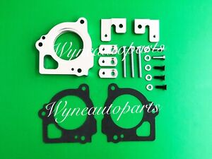 Silver Throttle Body Spacer Fits 1999 2000 2001 2002 Jeep Grand Cherokee 4 7l