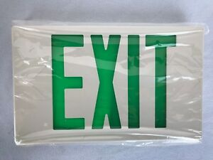 Led Emergency Exit Lighting Fixture By The Exit Light Co Green Lettering 2 Face