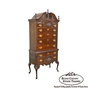 Thomasville The Mahogany Collection 18th Century Style Queen Anne Highboy