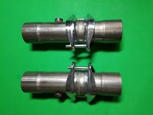 2 5 Header To 2 5 Exhaust Ball Socket W O2 Bungs 409 Stainless Collector