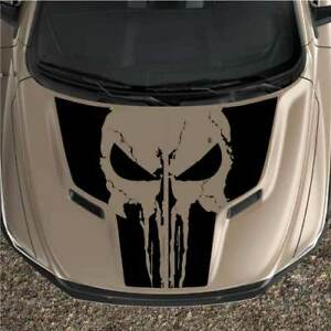 Rebel Dodge Ram 1500 Sport Punisher 2pc Hood Truck Black Out Vinyl Decal Graphic