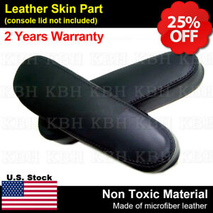 Fits 2004 2010 Nissan Titan 2pcs Seat Armrest Leather Replacement Cover Black