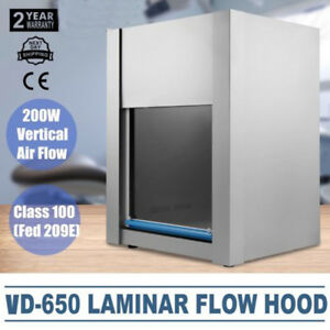 Vd 650 Vertical Ventilation Laminar Flow Hood Air Clean Bench Workstation 200w