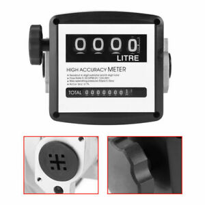 High Accuracy 4 Digital Gallon 1 1 Inch Diesel Gas Fuel Oil Flow Meter Counter