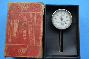 Starrett Back plunger Dial Indicator No 196 001 Grads 0 100 Dial Usa