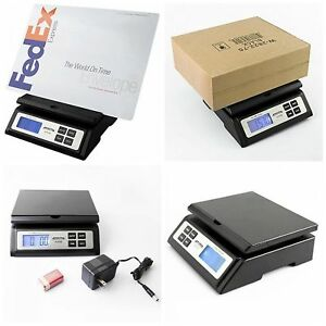 Accuteck Digital Postal Scale Heavy Duty Shipping Table Top Large Black Best New