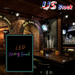 32 x24 Flashing Illuminated Erasable Neon Led Message Writing Board Menu Sign