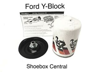 1954 64 Ford 239 256 272 292 312 Y Block Oil Filter Conversion Kit