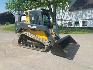 2013 John Deere 333d Compact Tracked Loader Diesel Engine Hydraulic 2 Speed Cab