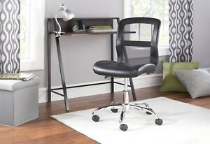 Office Chair Home Armless Black Executive Ergonomic Mesh Task Desk Without Arms